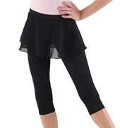 Tween 3/4 Leggings with Skirt Overlay