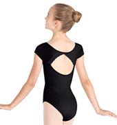 Girls Open Back Short Sleeve Leotard