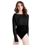 Adult Cable Knit Crop Sweater