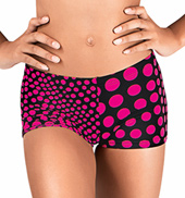 Girls Polka Dot Dance Shorts