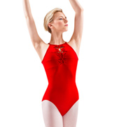 Adult Twist Cord Open Back Leotard