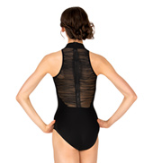 Adult Crinkle Mesh High Neck Tank Leotard