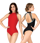 Adult High Neck Mesh Back Leotard