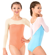 Girls Sofya Mesh Long Sleeve Leotard
