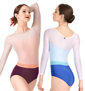 Adult Zara Mesh Overlay Long Sleeve Leotard