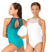 Girls Ariel Mesh Keyhole Tank Leotard