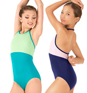 Girls Sonya Jewel Halter Leotard