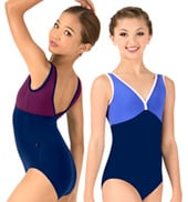 Girls Nora Two-Tone Tank Leotard