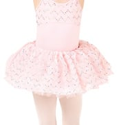 Girls Crinkle Sequin Mesh Tutu Skirt