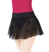 Adult Floral Mesh Pull-On Skirt