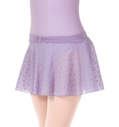 Girls Bow Flock Mesh Pull-On Skirt