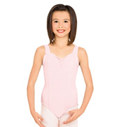 Child Pinch Front Tank Cotton Leotard