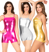 Metallic Camisole Shorty Unitard