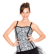 Leopard Sequin Corset Top