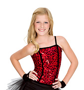 Child Leopard Sequin Corset Top