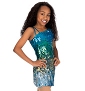 Child Sequin One Shoulder Dress