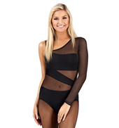 Asymmetrical One Sleeve Spliced Leotard