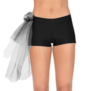 Adult Side Bustle Tutu Dance Short