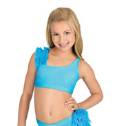 Child Mesh Ruffle Bra Top