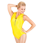 Adult Hooded Zipper Tank Leotard