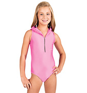 Child Hooded Zipper Tank Leotard