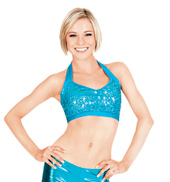 Adult Sequin Halter Bra Top