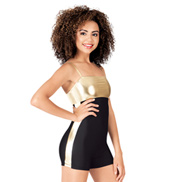 Adult Metallic Insert Shorty Unitard