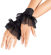 Child Mesh Ruffle Cuffs