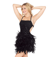 Adult Sequin & Feather Camisole Dress