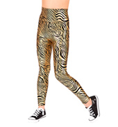 Child High Waist Roxy Zebra Leggings