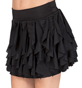 Spiral Hem Skirt with Brief