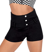 Adult High Waist French Terry Dance Shorts