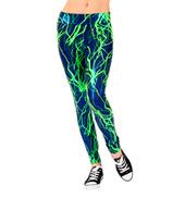 Girls Lime Lightning Bolt Legging