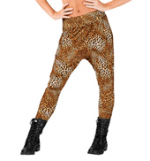 Adult High Waist Cheetah Harem Pants