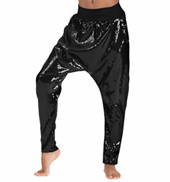 Girls Sequin Harem Pants