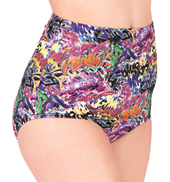 Printed High Waist Brief