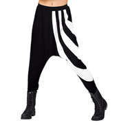 Adult Rayon White Stripe Harem Pants