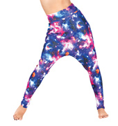 Adult Galaxy High Waist Harem Pant