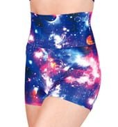 Adult Galaxy High Waist Dance Shorts