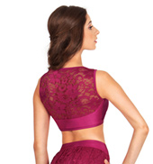 Adult Emballe Sweetheart Lace Crop Top