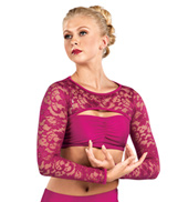 Adult Emballe Long Sleeve Lace Shrug