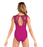 Adult Emballe Lace Boatneck Tank Leotard