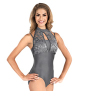 Adult Emballe Lace High Neck Leotard