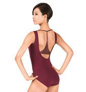 Adult Matte Metallic Racerback Tank Leotard