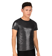 Mens Metallic Short Sleeve Shirt