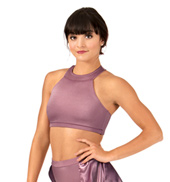 Adult Satin Racerback Crop Top