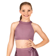 Child Satin Racerback Crop Top