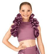 Child Satin Ruffle Shrug