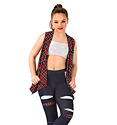 Girls 3-Piece Plaid Hip Hop Set