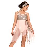 Girls Asymmetrical Lyrical Dress Set